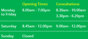 Coppull-Opening-Times